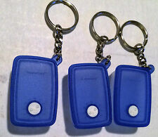 Tupperware Lot of 3 Blue Freezer Mates Key Chains Key Rings Miniatures NIP