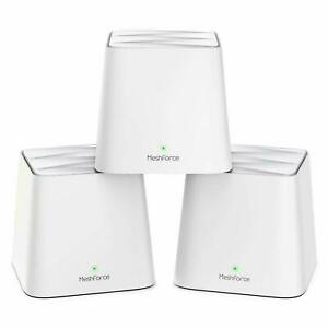 MeshForce M1 Router Whole Home Mesh AC1200 Dual Band WiFi System - Pack of 3