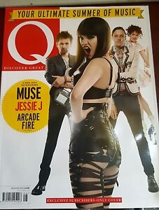 Q MAGAZINE AUGUST 2011 - JESSIE J - MUSE - SUBSCRIBERS COVER