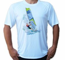 Wind Surfing Art Short Sleeve Upf 50 T-Shirt Beach Summer Sport Uv Protection