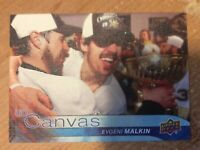 UPPER DECK 2016-2017 SERIES ONE CANVAS EVGENI MALKIN HOCKEY CARD C-64