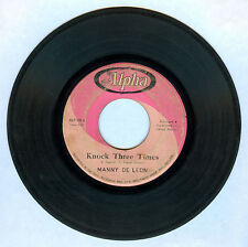 Philippines MANNY DE LEON Knock Three Times OPM 45 rpm Record