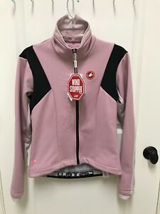 Castelli Donna Magia Jacket Women Medium Soft Shell NWT Pink Black