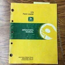 John Deere 175 Farm Loader Operators Manual Maintenance Tractor Guide Book Jd