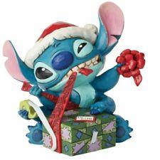 Disney Traditions Stitch With Santa Hat Bad Wrap Figurine 6002833