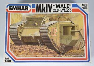 (191) 1990's Emhar 1/35th MkIV Male World War One Heavy Battle Tank