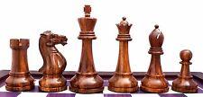 "Verona Series Premium Staunton 4"" Chess Pieces in Golden Rose Wood & Box Wood"