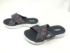 Womens Skechers (15306) ON THE GO 600 MONARCH Gray Slides Sandals (408J)