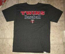 Minnesota Twins Dark Gray T-shirt Size Boys Large Mlb Baseball Graphic