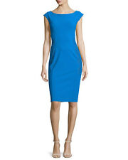 $845 LA PETITE ROBE di CHIARA BONI ARTEMIS  DRESS SZ 42/6 NWT ROYAL BLUE