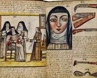 Stigmata Nun Medical Anatomy Bloodletting Painting 8x10 Real Canvas Art Print