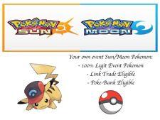 Pokemon Ultra Sun and Moon 20th Movie Event Ash Hat Pikachu Sinnoh Hat