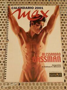 ALESSANDRO GASSMAN CALENDARIO 2001 USATO SICURO formato 65x32 centimetri