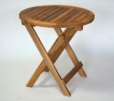 Akazienholz Beistelltisch rund 50 cm Klapptisch, Runder Beistelltisch,Tisch rund