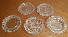 5 Westmoreland George Washington & 3 Other Design Glass Cup Plates