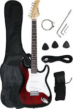 ~Sale New Crescent REDBURST Electric Guitar+Strap+Gigbag+WARRANTY