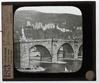 Germania Heidelberg Pont Foto n18 Placca Da Proiezione Lanterna Magica
