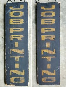 1880-90s Vertical Double Sided Print Shop Sign