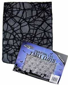Halloween Party Table Cloth - 100 x 80cm Spooky Spider Web Lace Design