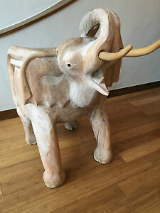 Elephant Chair Carved Out Of Wook