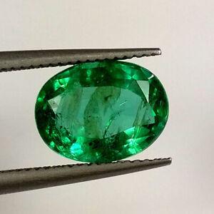 c1.75cts.Fine Beautiful Light Green Zambian Emerald Natural emerald faceted cut 2 ovals pair .m7x5x3.8  mm..#E490