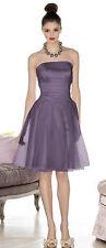 Cynthia Rowley 8001 Bridesmaid Strapless Cocktail Dress Sz 10 Purple Bordeaux G7