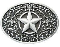 Men Buckle Southwest Star Oval Belt Buckle Gürtelschnallealso Stock in US