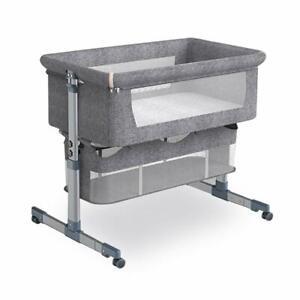 5Core Bedside Baby Bassinet 6 Height Bed Crib Cradle w Mattress + Net + Storage
