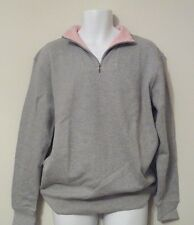 NEW Kirkland Signature Mens L/S 1/4 Quarter Zip Softness Cotton Pullover Gray XL