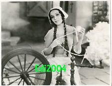 """DOLORES DEL RIO Vintage Original Photo 1929 """"EVANGELINE RARE EARLY Mexican Star"""