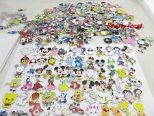 New 50 pcs Popular Mixed Cartoon Charms Jewelry Making Metal Pendants Gifts