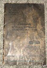 """Cincinnati 6"""" Plain Hydraulic Grinding Operator Manual"""