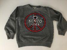 Kenzo Boys Jumper Sweater Grey Long Sleeve Age 8 Years