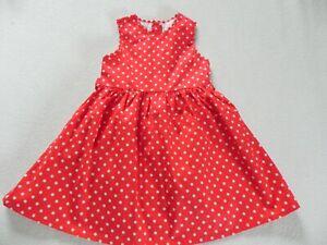 Toby Tiger traumhaftes Kleid rot weiße Punkte Dots Gr. 86-92 NEU