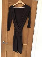 Gorgeous All Saints Adria Wool Blend 3/4 Sleeve Wrap Dress Size S Worn Twice
