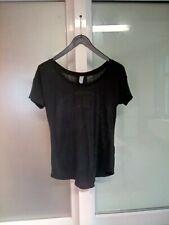 T-shirt noir écritures et palmiers en transparence G-Star Taille S