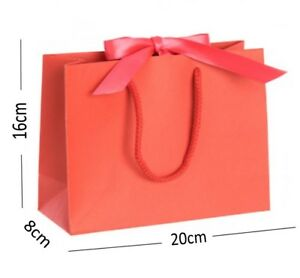 Luxury Boutique Shop Ribbon Tie Gift Bags Rope Handle Events Bag - Select Colour