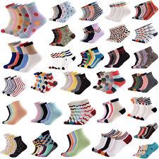5 Paia Donne Uomo Calze Morbido Cotone 3D Stampato Corti Ankle Socks Moda