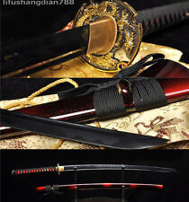 41' SHARP 1060 BLACK CARBON STEEL DRAGON HANDMADE JAPANESE SAMURAI KATANA SWORD