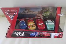 Pixar CARS Racing 4 Pack Lightning McQueen Raoul CaRoule Miguel Camino Denise