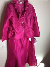 New Lily & Taylor Women's 2 Piece Dress Suit Pink Size 18W USA NWT