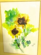 """SALE!! 25% OFF!! Original Watercolor SIGNED By Sonia Risolia 22""""x17.5"""" Framed"""