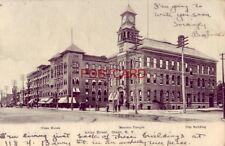 pre-1907 UNION STREET OLEAN, N.Y. 1905 three bldgs. identified incl. Olean House