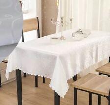 """Good Quality WHITE SQUARE TABLE CLOTH 1.8m x 1.8m /70""""x70"""""""