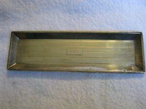 """Sterling Silver Wm. B. KERR & Co. Newark 1855-92 9"""" Long Pen Tray """"A.E.D"""" Inits"""