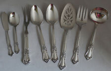 8 Wm A Rogers Valley Rose Serving Pieces Silverplate Oneida