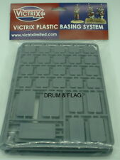 VICTRIX MIXED SIZE PLASTIC BASES. WARGAMING. LOW PROFILE. GRAY PLASTIC