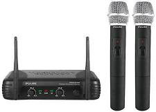Pulse Pwm200vhf-hh VHF Dual Handheld Wireless Microphone - Works Like Kam Kwm11