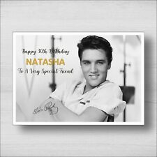 C23 Personalised Elvis Presely Birthday Card - Any Name and Age