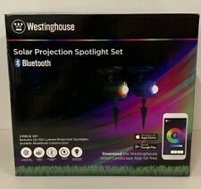 Westinghouse Bluetooth Solar Powered Spot Light 2 Pack Set 100 Lumens New